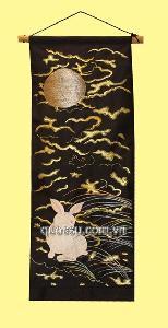Rèm trang trí  - thỏ trăng